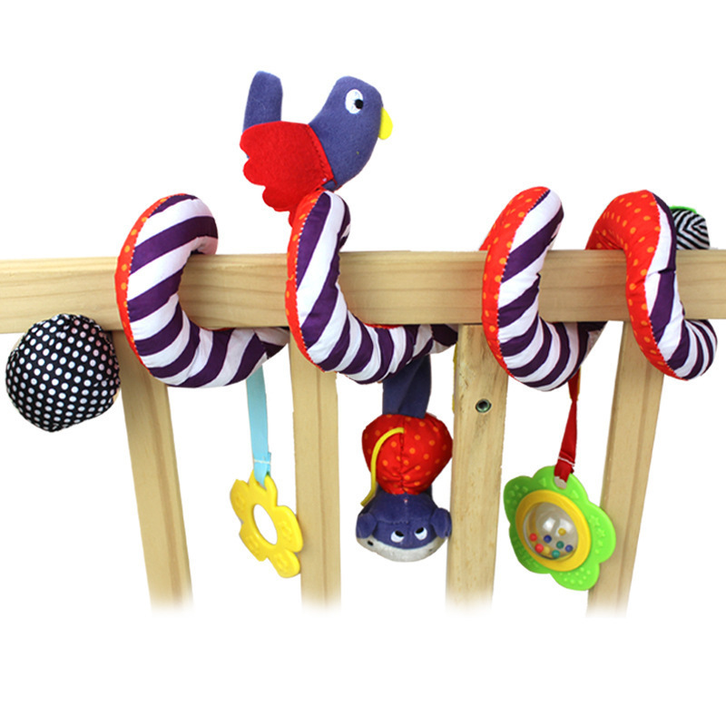 Mamas & Amp; Color Bright Bed Around/Lathe Hanging BB Device/Rattle/Teether Purple Birds Bed Hanging