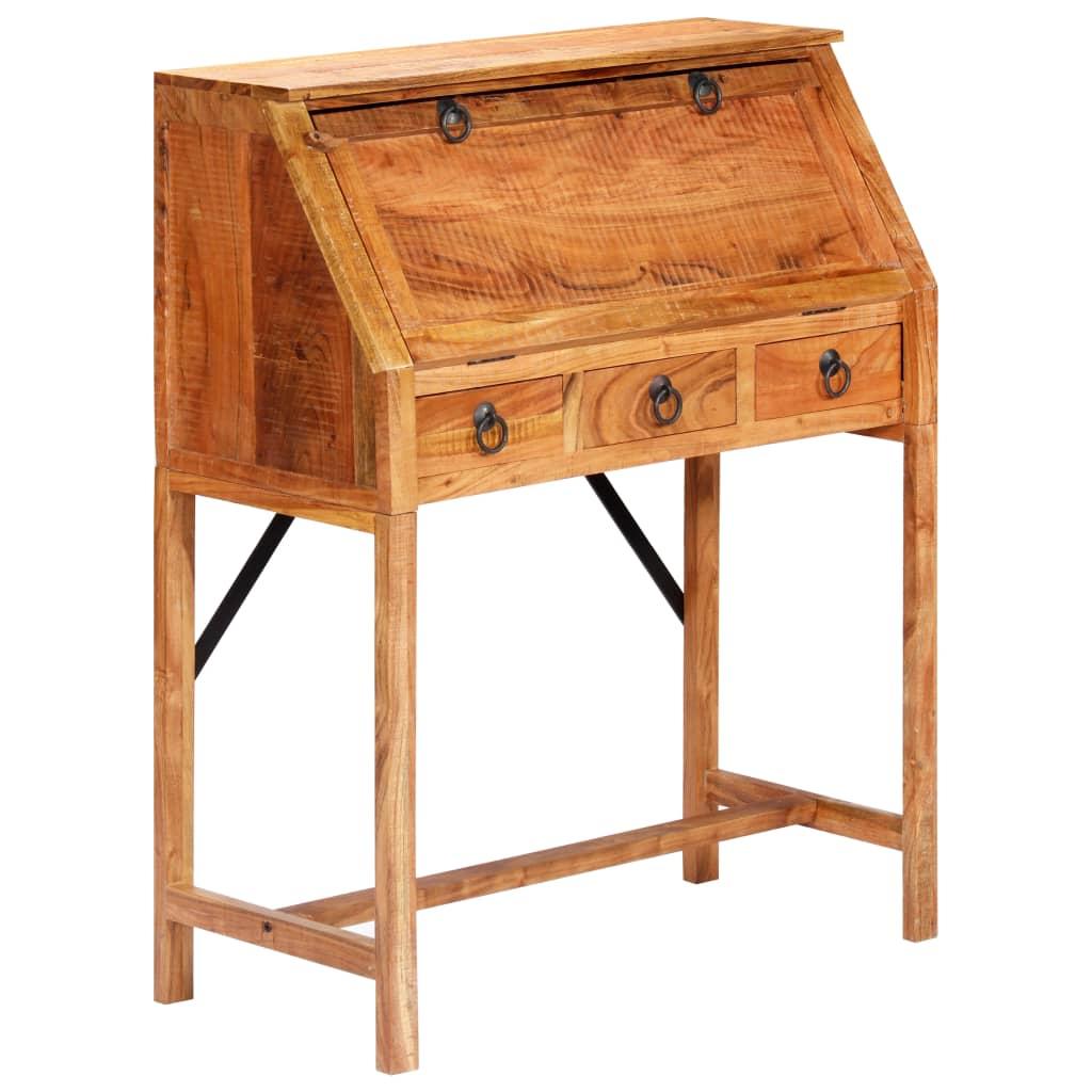 VidaXL Writing Desk 90x40x107cm Solid Acacia Wood