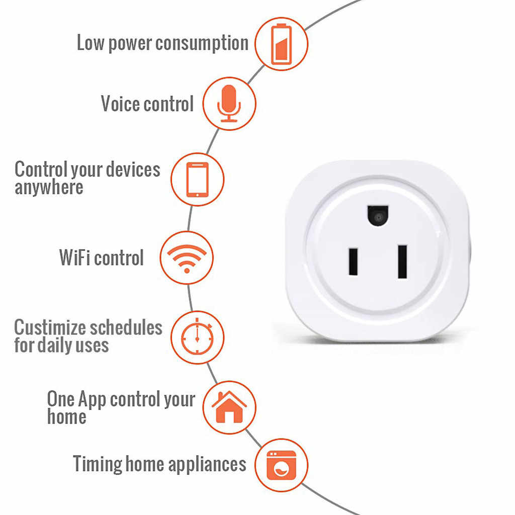HIPERDEAL 2019 nowy pilot zdalnego sterowania inteligentnego domu WiFi inteligentne gniazdo zasilania bezprzewodowy wyłącznik czasowy Outlet nowy inteligentny sterownik domowy Aug8