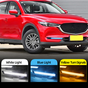 Image 2 - 2Pcs For Mazda CX 5 CX5 2017 2018 2019 Driving DRL Daytime Running Light fog lamp Relay LED yellow turn Daylight style
