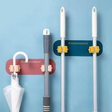 Mop gancho de parede vida doméstica banheiro banheiro gancho de cozinha vassoura clipe de perfuração-livre super viscoso acomodar ferramentas de limpeza