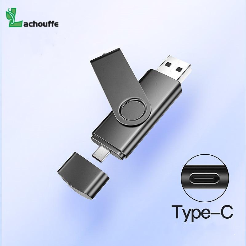 2 In 1 Otg Typec Usb Flash 4GB 16GB 32GB 64GB 128gb  Usb Flash Drive Memory Stick Pendrive Usb Flash Drive For Type C Phone