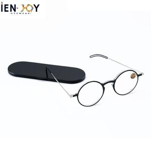 Image 1 - IENJOY Reading Glasses Blue Light Blocking Glasses TR90 Computer Readers Women Men Round Black Frames Pocket Presbyopia Reader