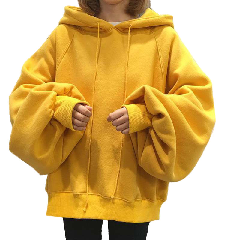 NORMOV Solid Plus Velvet Women Hoodies Autumn Winter Long Sleeve Drawstring Polyester Sweatshirts Casual Plus Size Hoodies
