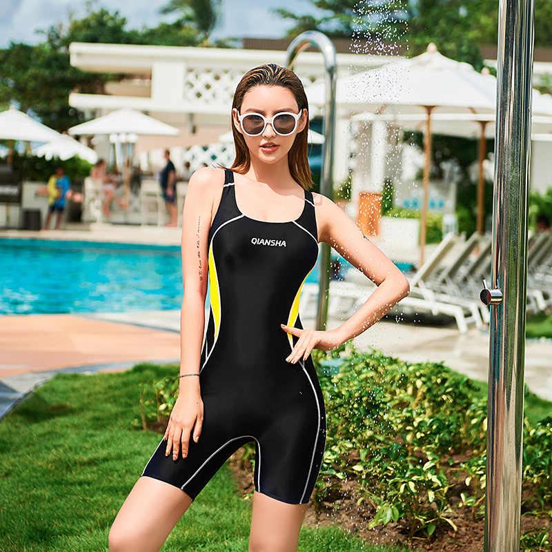 Sport di Un Pezzo del Costume Da Bagno Delle Donne di Nuovo 2020 Costumi Da Bagno Vestito di Nuoto per Le Donne Tute Da Bagno Conservatore Studente