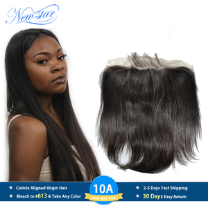 Image 1 - New Star Brazilian Straight Virgin Hair 13x6 Lace Frontal Closures 100% Human Hair Pre Plucked Hairline With Baby Hair Closure