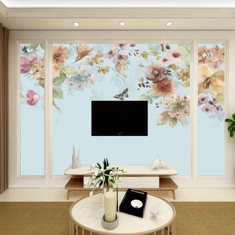 Big Vision TV Backdrop Wallpaper Modern Minimalist TV Wall Seamless Mural Living Room Wallpaper 3D Wall Cloth
