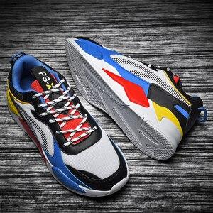 Image 3 - 高品質の男性の靴カジュアルスニーカーサファイアメッシュメンズ快適な通気性レースアップchaussureオムビッグサイズ 39 47