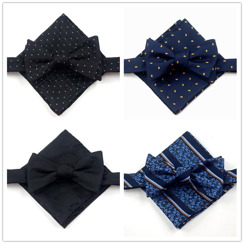 Hand Bowtie Pocket Square Set Bowtie Self Tie BOWTIE Pocket Square
