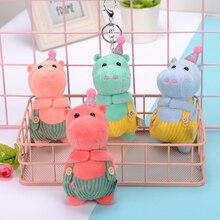 Plush toy bag pendant key chain cute hippo doll