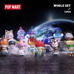 POP MART Dimoo Space Travel для всей коробки, кукла, бинарная фигурка, подарок на день рождения, детская игрушка, история животных, игрушки, фигурки