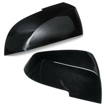 Gloss Black Side Mirror Cover Cap Rearview For F20 F30 F31 F32 F34 F36 X1 E84 for bmw e90 e92 e93 f20 f21 f30 f31 f32 f33 f34 f15 f10 f01 f11 f02 g30 m performance side skirt sill stripe body decals sticker