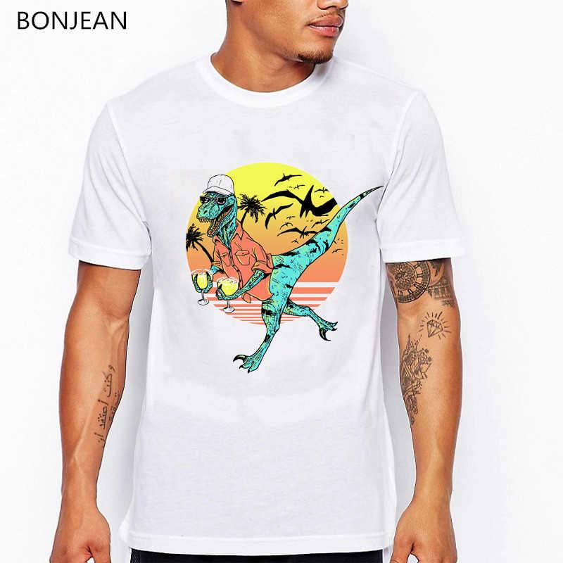 Vasthouden Aan Uw Margaritas Dinosaurus T-shirt Mannen Grappige Vogue Tshirt Homme Harajuku Kawaii Kleding Zomer Tops T-shirt Mannen