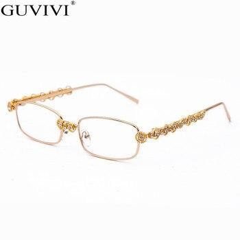 Rectangle Rhinestone Sunglasses Women Fashion Steampunk Diamond Sun Glasses Crystal Vintage Shades Eyeglasses UV400 Oculos 8