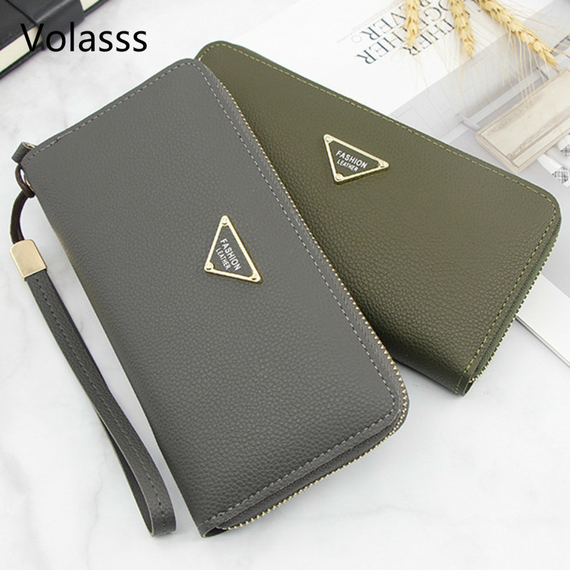 Women's Clutch And Lady Purses Fashion Women Purse New Solid Woman Wallet Womens Wallets Carteira Feminina Monederos Para Mujer