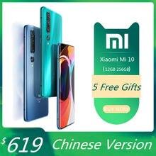 Xiaomi Mi 10 telefon komórkowy RAM 12GB ROM 256GB Mi10 5G Smartphone Snapdragon 865 Octa Core 108MP Quad aparaty 6.67 Cal UFS 3.0