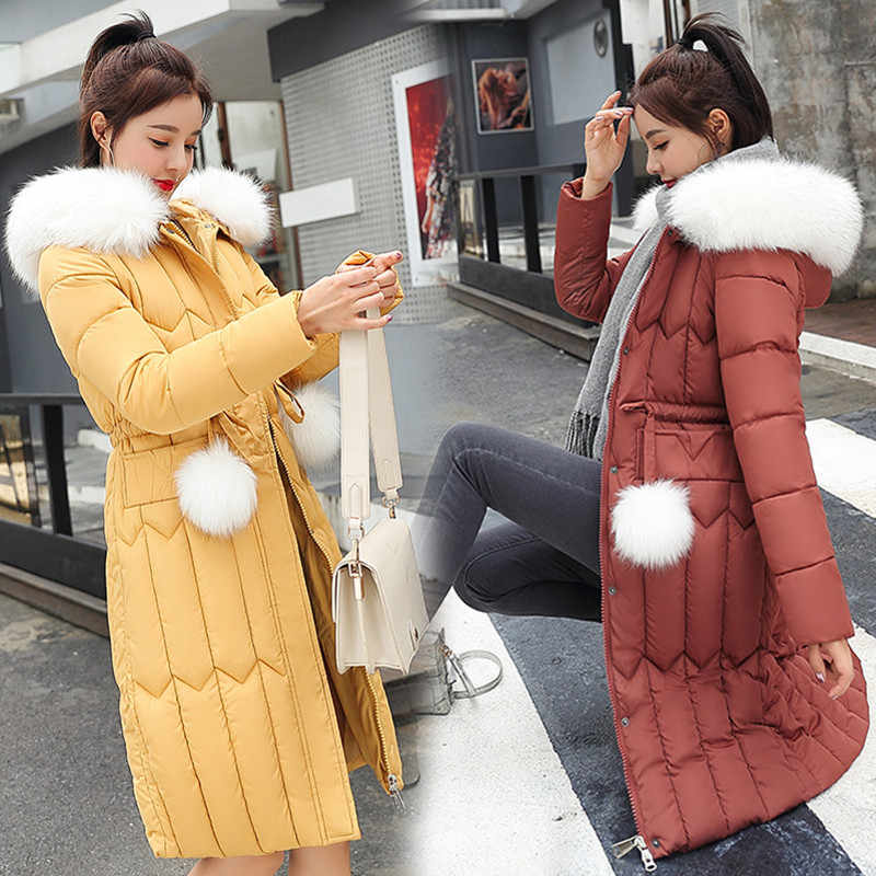 Winter Down Cotton Coat 2020 Parkas For Women Plus Size 5XL Thick Big Winter Jacket Women Coats Warm Outwear Hooded Fur coat