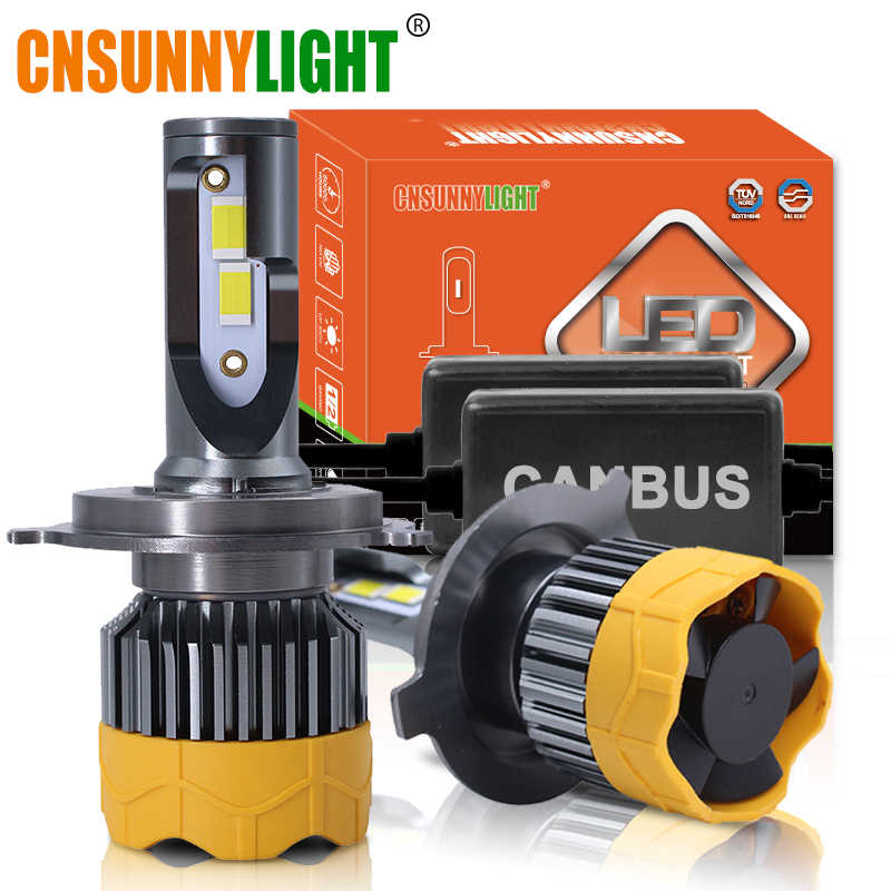 CNSUNNYLIGHT T8 2PCS H7 H4 H1 H11 9005/6 LED Auto Car Headlight Bulbs 15000Lm 70W/Pair 6000K Canbus No Error Automotive FogLamps