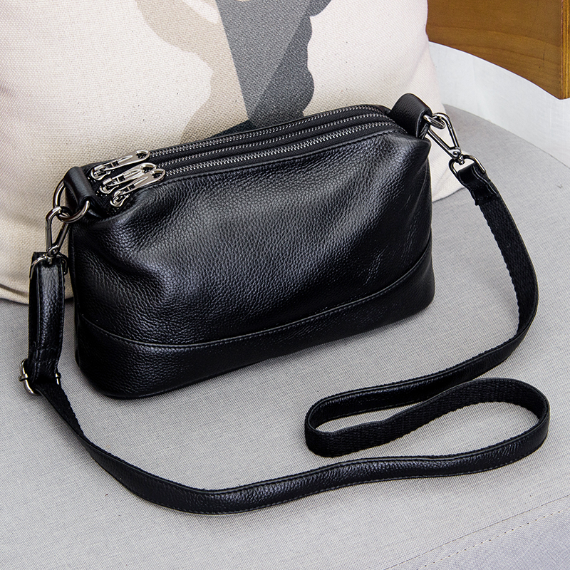 2019 New Genuine Leather Shoulder Bag Women's Luxury Handbags Fashion Crossbody Bags For Women Messenger Bag Female Purse Totes
