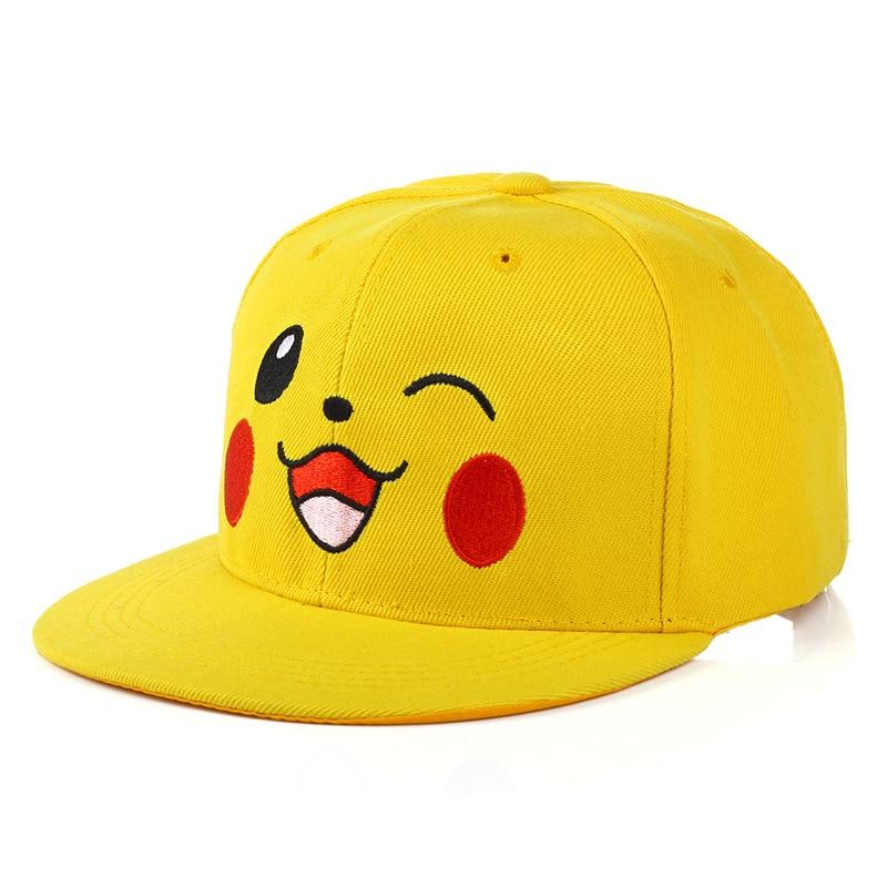 Anime pokemon crianças boné de beisebol chapéu unisex ajustável chapéu pokemon hip hop boné ao ar livre casual moda chapéu de sol
