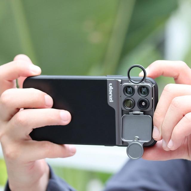 Ulanzi 5 in 1 Phone Lens Case Kit 20X Super Macro Lens CPL Fisheye Telephoto Lens for iPhone 11 Pro Max Pixel 4 4XL