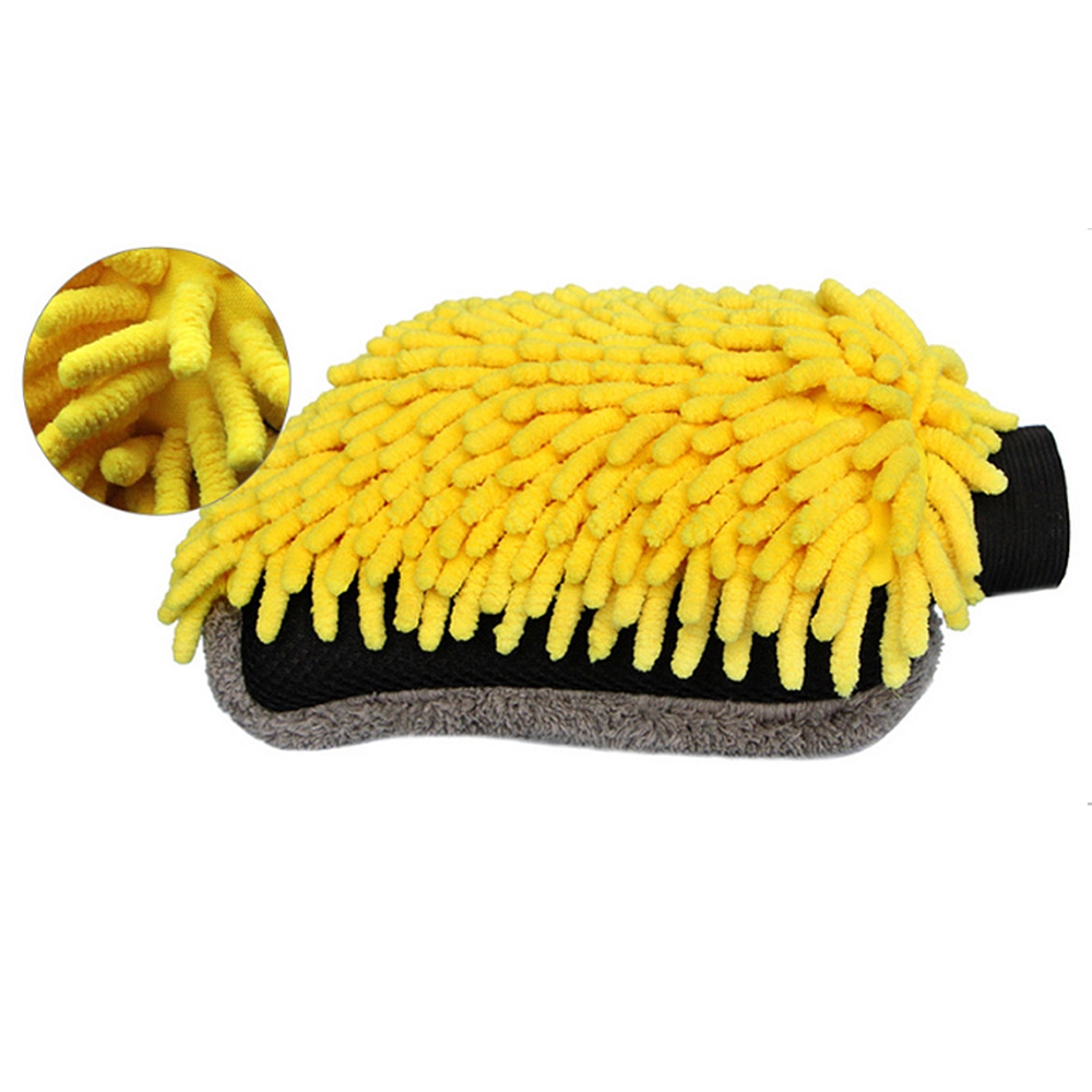 Multi-function Car Cleaning Brush Detailing Microfiber Car Wash Gloves Cleaning Tool Drying Towel <font><b>Strong</b></font> Thick Fiber Wheel Brush image