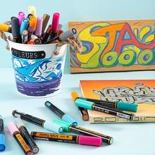 STA 24Colors 2mm Acrylic Paint Marker Pen for Ceramic Rock Glass Porcelain Detailed Marking Color Paint Pens Art Marker