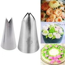 2 pçs folha de aço inoxidável piping bocais bolo decoração pastelaria ponta define cupcake ferramentas bakeware #113 #352
