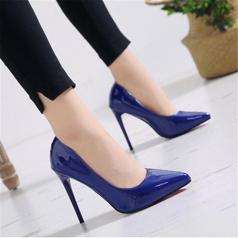 Brand Size 35-44 Shoes Woman High Heels Ladies Shoes 11CM Heels Pumps Women Shoes High Heels Sexy Black Wedding Shoes Stiletto