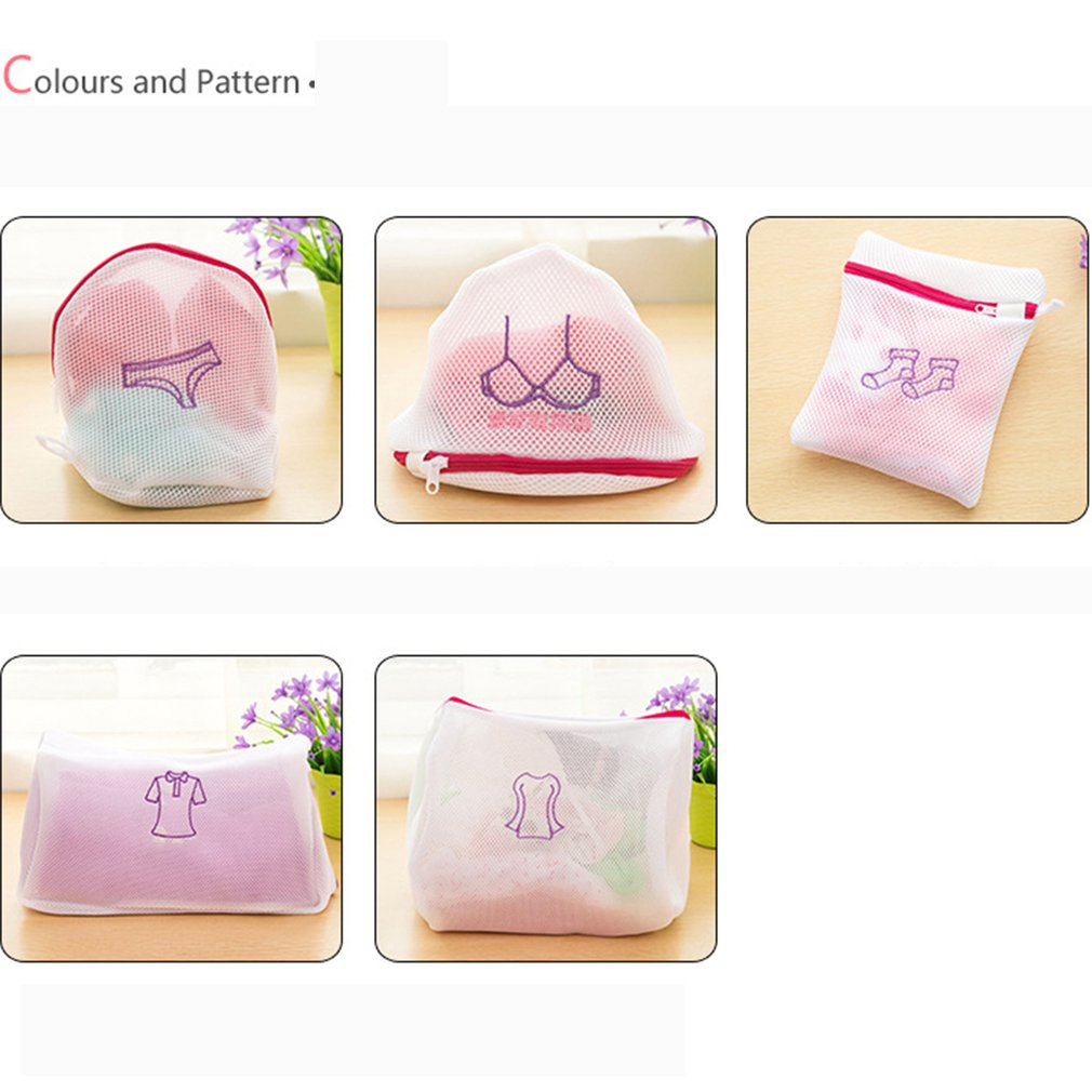 Laundry Bag Embroidered Fine Net Thicken Laundry Bag Bra Underwear Socks Machine Washing Bag Protection Bags