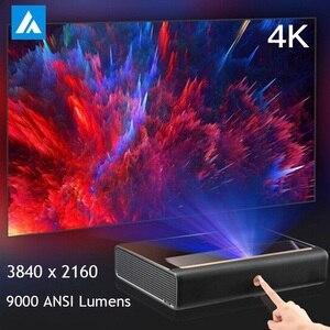 WEMAX A300 4K Ультра короткий бросок лазерный проектор 3840x2160 9000 ANSI люмен 150 дюймов ALPD 3,0 ТВ домашний кинотеатр 3D WiFi
