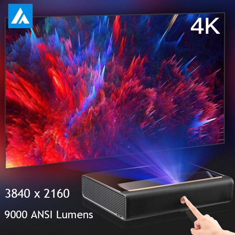 WEMAX A300 4K Ultra Short Throw Laser Projector 3840 X 2160 9000 ANSI Lumens 150 Inch ALPD 3.0 TV Home Theater 3D WiFi