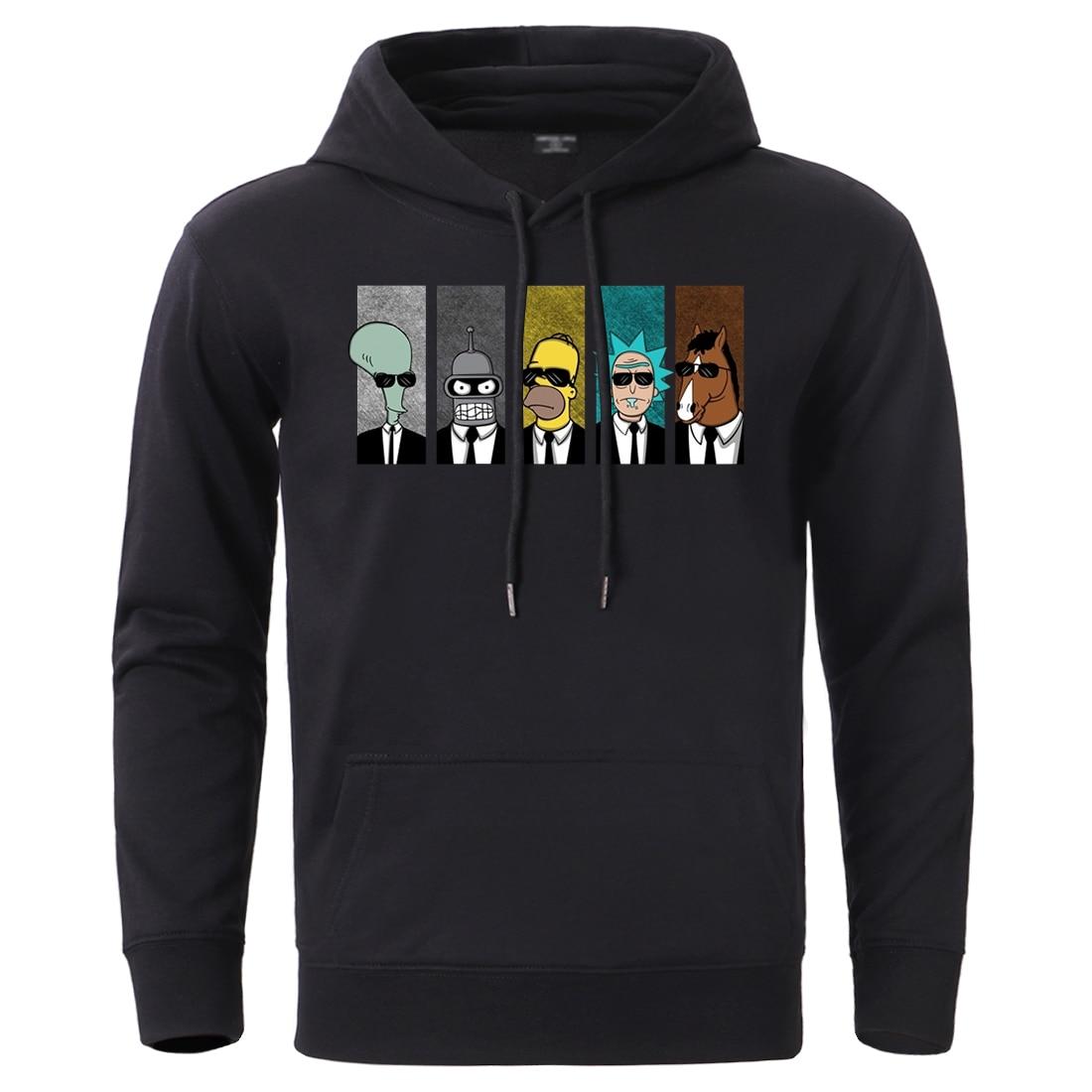 Hot Sale Rick Morty Men's Hoodies Sweatshirts Warm Spring Winter Fleece Tracksuit 2020 Funny Anime Hip Hop Streetwear Sportswear