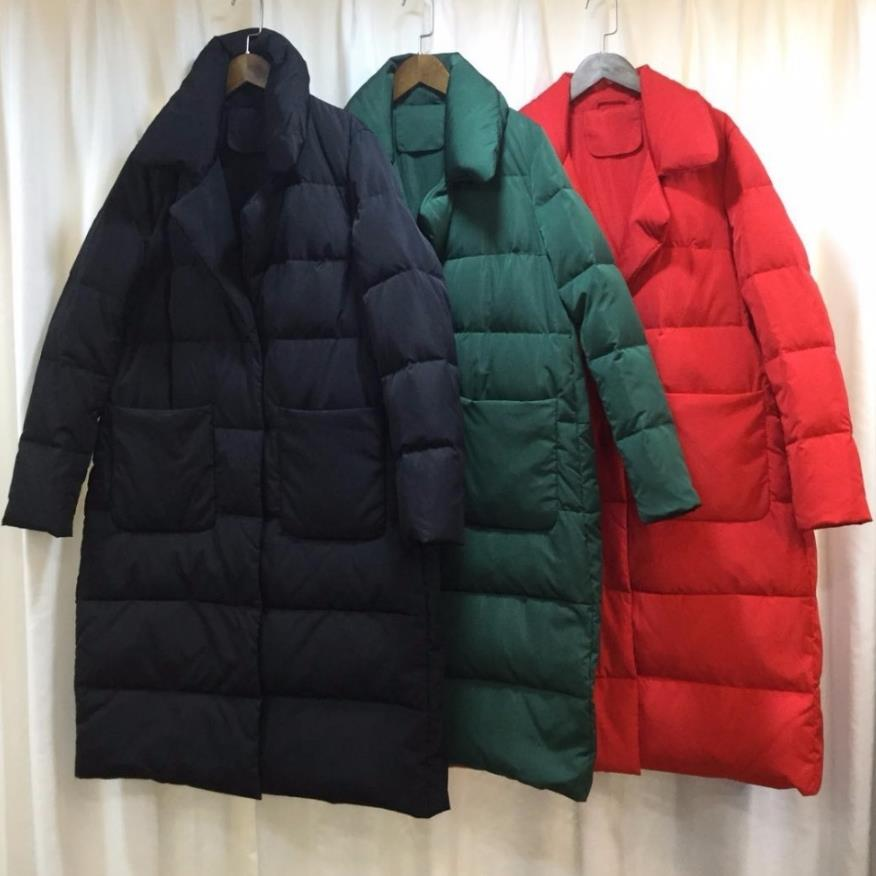 Moda de marca de gran tamaño 100% plumón de pato más grueso cálido parkas abrigo femenino traje Cuello estilo de capa chaqueta de abrigo largo de plumas suelta wq75