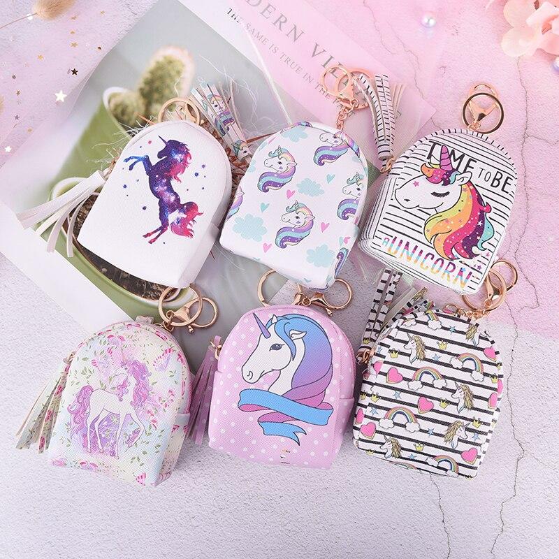 Cartoon Unicorn Coin Purses Women Wallets Small Cute Kawaii Card Holder Key Money Bags For Girls Ladies Purse Kids Children