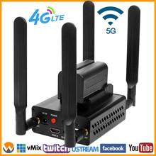 4G LTE 1080P 1080i HDMI к IP видео в реальном времени, кодировщик H.264 H.265 HDMI, потоковый кодировщик Wi Fi с httpp RTMP UDP SRT RTMPS HLS RTSP