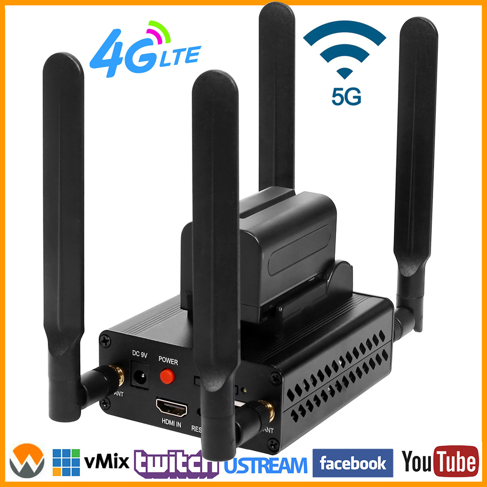 4G LTE 1080P 1080i HDMI к IP видео в реальном времени, кодировщик H.264 H.265 HDMI, потоковый кодировщик Wi-Fi с httpp RTMP UDP SRT RTMPS HLS RTSP