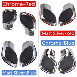 Image 3 - Car Red/Blue Gear Shift Knob Lever Stick Chrome Matt For Volkswagen VW Golf 7 DSG Cover Emblem