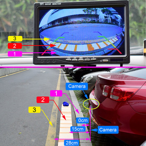Image 2 - XCGaoon CCD 180 degree Fisheye Lens Car Camera Rear View Wide Angle Reversing Backup Camera Night Vision Parking Assist