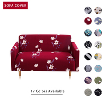 4 sizes elastic solid color sofa cover for u shape sofa cover l shaped stretch seater chair sofa cover pillow case Elastic Stretch Sofa Cover SlipcoversAll-inclusive Couch Case for Different Shape Sofa Loveseat  Stretch Sofa Cover