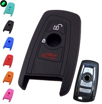 FIT FOR BMW 1 2 3 5 7 SERIES X1 X3 X4 X5 X6 E46 E53 F30 F31 F10 F20 F30 GT SILICONE 3 4 BUTTON KEY REMOTE COVER FOB SHELL CASE image