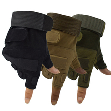 Military Tactical Gloves Airsoft Paintball Sport Half Finger Men Cycling Anti-gloves Hiking Camping