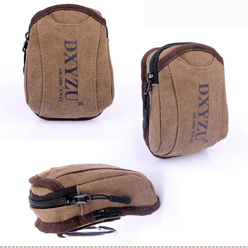 Bisi Goro Fashion Outdoor Sports Men Belt Bag Canvas Wear-resistant Phone Small Bolsa Pierna Letter Print Wear A Belt Pocket