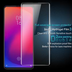 Imak 2 sztuk przezroczysta miękka folia hydrożelowa dla Xiaomi Redmi K20 K20 Pro 9T 9T Pro 3D pełna pokrywa Protector