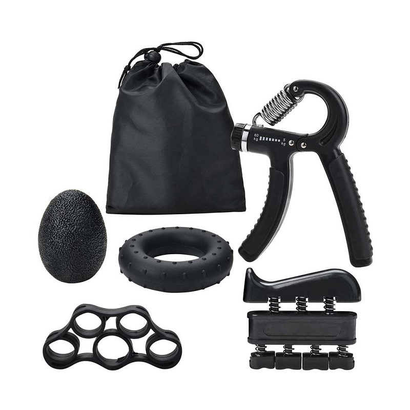 5PC/Set Gripper Fitness Adjustable Hand Grip Set Finger Strength Recovery Hand Gripper Exerciser Trainer(China)
