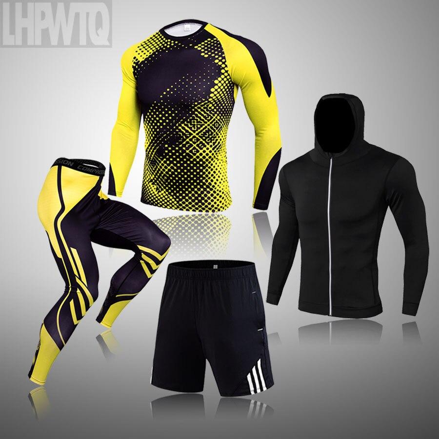 Зимний костюм для мужчин, 4 шт., мужское термобелье, спортивный костюм для мужчин, ММА, термобелье, одежда, Рашгард, комплект, бодибилдинг, футболка|Кальсоны|   | АлиЭкспресс