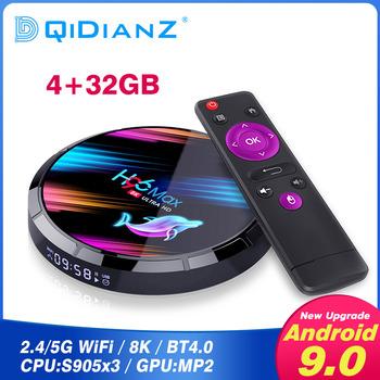 H96 MAX X3 z systemem Android 9 0 1000M Smart TV Box procesor Amlogic S905X3 8K android tv 4GB 128GB 64GB zestaw Top odtwarzacz multimedialny Box PK H96 MAX t95 tanie i dobre opinie DQiDianZ 1000 M CN (pochodzenie) Amlogic S905X quad-core 64-bit 64 GB eMMC HDMI 2 0 4G DDR3 H96MaxX3 DC 5 V 2A Karty TF Do 32 GB