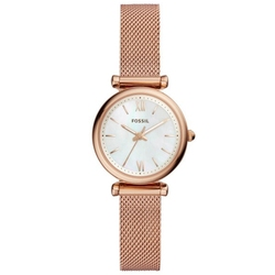 FOSSIL Carlie Watch Women Mini Three-Hand Rose Gold-Tone Stainless Steel Watch Luxury Small Watch for Ladies ES4433P