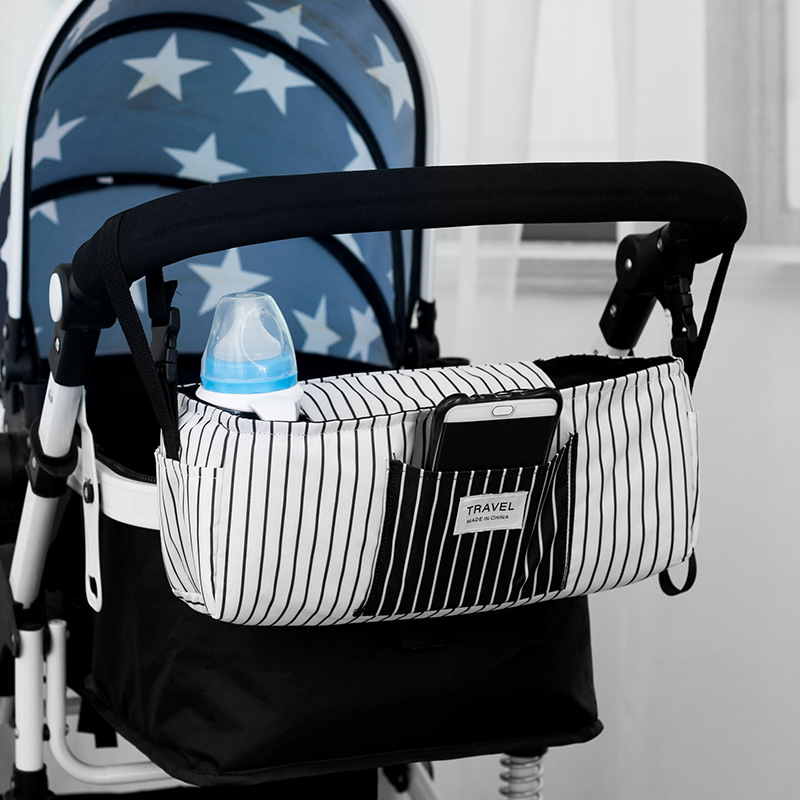 Multi-functional Baby Stroller Carrier Baby Supplies Storage Bag Feeding Bottle Cup Accessories Cart Pannier Bag Hanging Bag