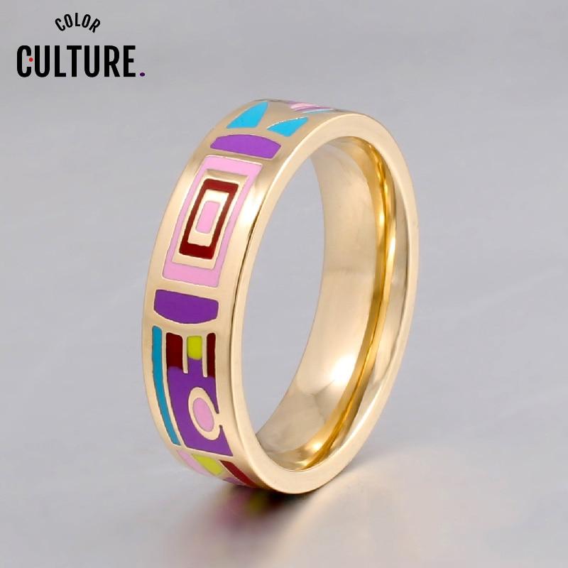 Nueva llegada elegante anillo de cerámica clásico mujeres joyería fina regalo de pareja feliz anillo de acero inoxidable pcjz018